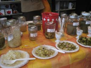 Downtown home and garden pickle contest last one eating Home and garden contest