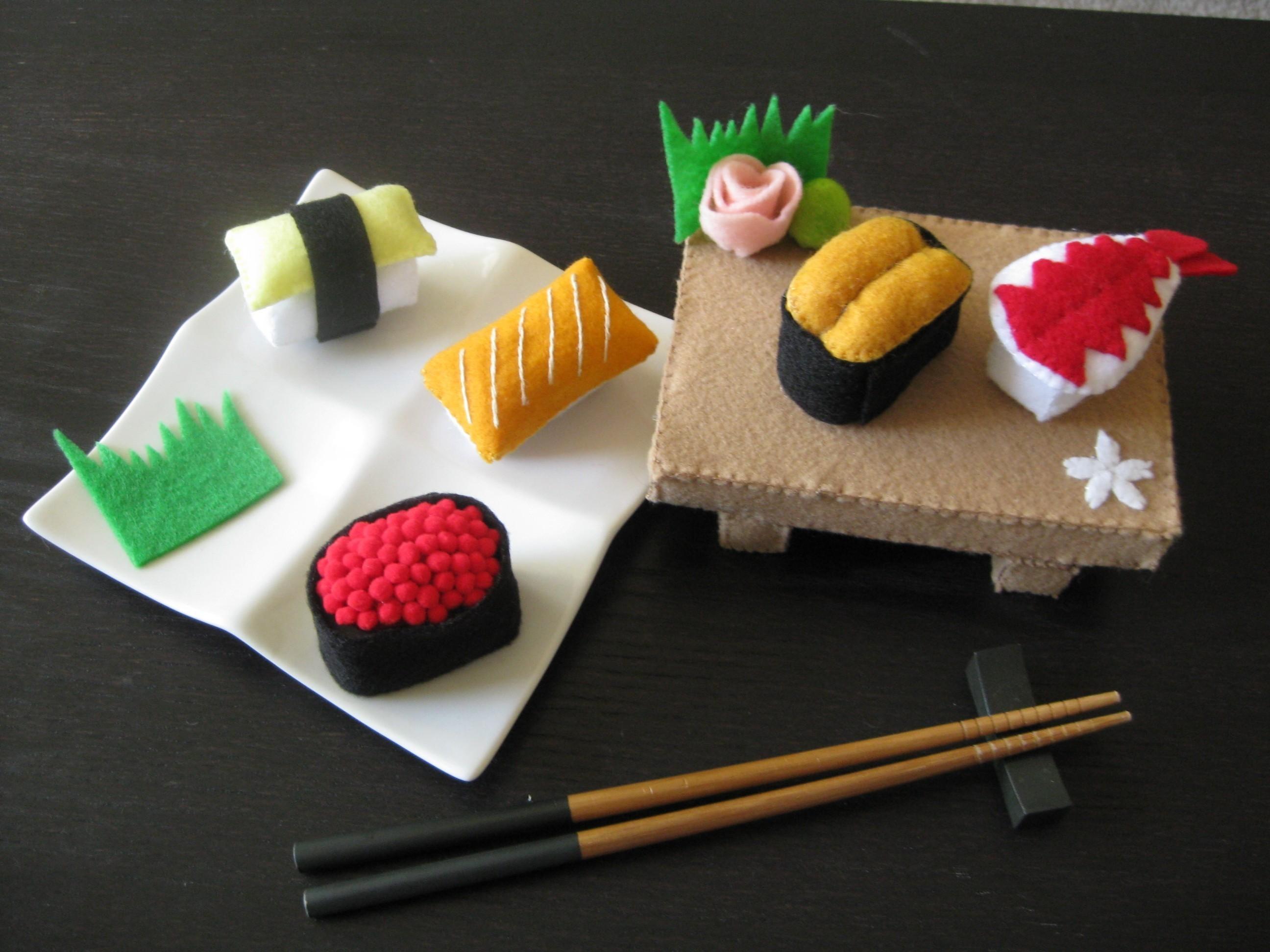 Plush Food Toys : Plush food and art last one eating