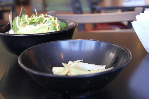 Ann Arbor Food House made pickles with Bundha Rice Bowls at Bona Sera