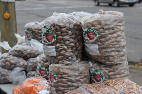 Fresh Pecans at road side stand Ann Arbor Food